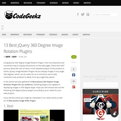 13 Best jQuery 360 Degree Image Rotation Plugins