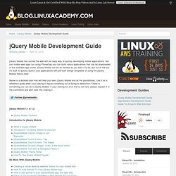 jQuery Mobile Development Guide | Pinehead.tv