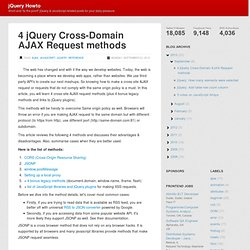 4 jQuery Cross-Domain AJAX Request methods