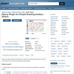 Jquery Drawing Plugin