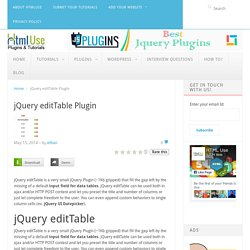 jQuery editTable Plugin
