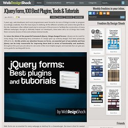 jQuery forms, 100 best