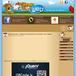 jQuery QRCode - Générez des QRCode en Javascript avec jQuery
