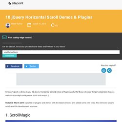 10 jQuery Horizontal Scroll Demos & Plugins
