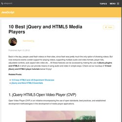 10 Best jQuery and HTML5 Media Players