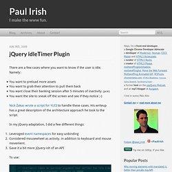jQuery idleTimer plugin