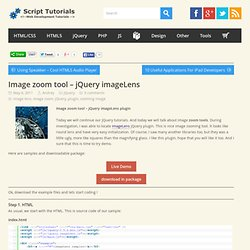 Image zoom tool – jQuery imageLens