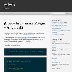 jQuery inputmask plugin + AngularJS - valve's