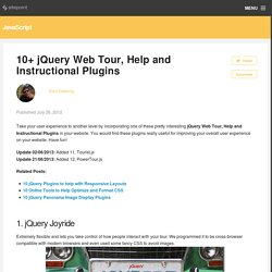 10+ jQuery Web Tour, Help and Instructional Plugins