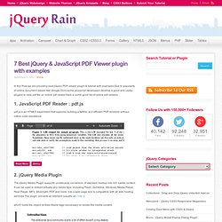 7 Best jQuery & JavaScript PDF Viewer plugin with examples