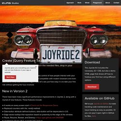jQuery Joyride Feature Tour Plugin - ZURB Playground - ZURB.com