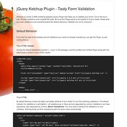 jQuery Ketchup Plugin - Documentation