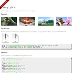 jQuery Lighter