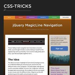 jQuery MagicLine Navigation
