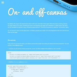 jQuery.mmenu on-canvas and off-canvas menus