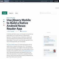 Use jQuery Mobile to Build a Native Android News Reader App