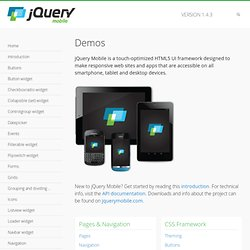 jQuery Mobile Demos