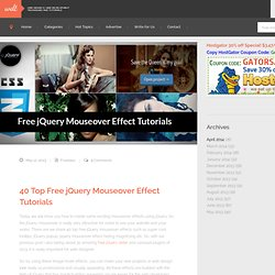 40 Top Free jQuery Mouseover Effect Tutorials of 2013