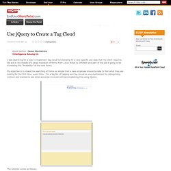 Use jQuery to Create a Tag Cloud