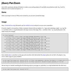 jQuery Pan/Zoom