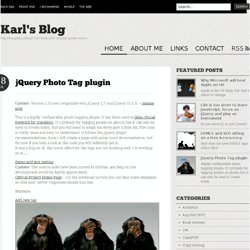 jQuery Photo Tag plugin | Karl's Blog
