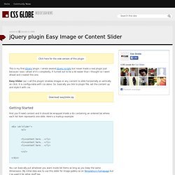 jQuery plugin - Easy Image or Content Slider