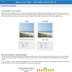 JQuery Cycle Plugin - Intermediate Demos (Part 2)