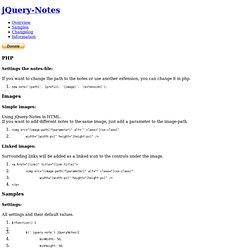 jQuery Plugin: jQuery-Notes 1.0.8