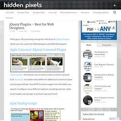 jQuery Plugins - Best for Web Designers