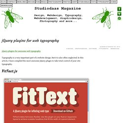 jQuery plugins for web typography