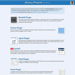 jQuery Plugins by malsup