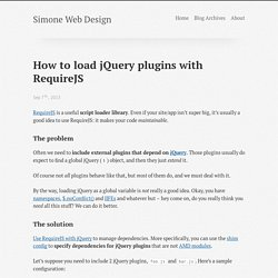 How to Load jQuery Plugins With RequireJS - Simone Web Design