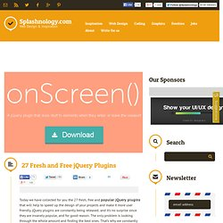 27 Fresh and Free jQuery Plugins