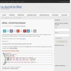 jQuery : Les bonnes pratiques