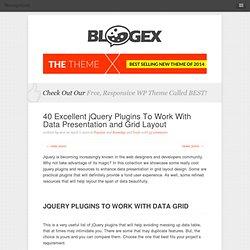 jQuery Grid & Data Presentation Plugins