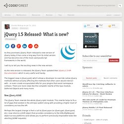 jQuery 1.5 Released: What is new?