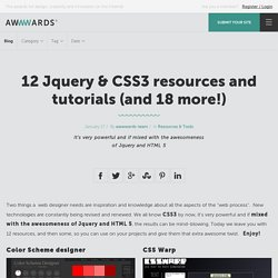 12 Jquery & CSS3 resources and tutorials (and 18 more!)