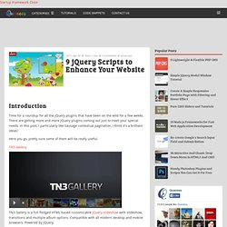9 jQuery Scripts to Enhance Your Website