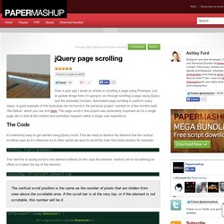 jQuery page scrolling