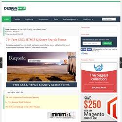 75+ Free CSS3, HTML5 & jQuery Search Forms « Designrazzi