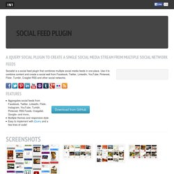 jQuery Socialist Social Media Plugin - Create and combine feeds from social networks