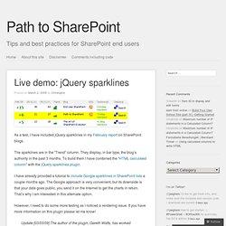 Live demo: jQuery sparklines