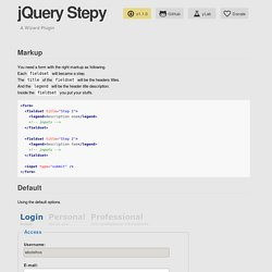 jQuery Stepy - A Wizard Plugin