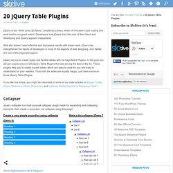 20 jQuery Table Plugins
