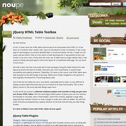 jQuery HTML Table Toolbox - Noupe Design Blog