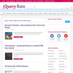 20+ jQuery Timeline Plugin with Example