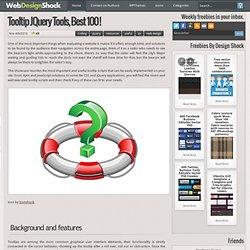100 Best tooltip scripts & plugins, a complete analysis « Web Design Blog – WebDesignShock