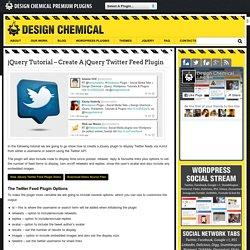 jQuery Tutorial – Create A jQuery Twitter Feed Plugin