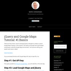 jQuery and Google Maps Tutorial: #1 Basics