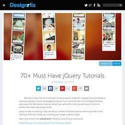 70+ Must Have jQuery Tutorials